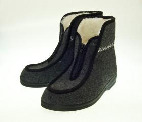 Pantofle filcowe – wysokie – tatrzanki na lekkim spodzie