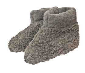 Pantofle wełniane – tumbler szary