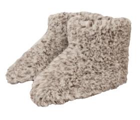 Pantofle wełniane – szary melanż
