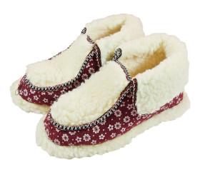 Pantofle filcowe – panterka