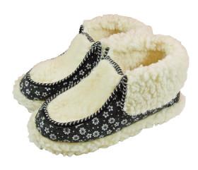 Pantofle filcowe – panterka szara