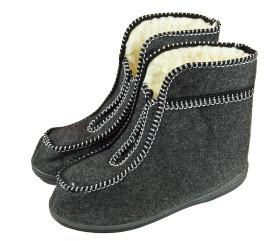 Pantofle filcowe – wysokie na zamek – tatrzanki