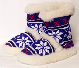 Pantofle wełniane – gwiazda norweska wysoka