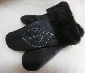 Rękawiczki skórzane – damskie z haftem