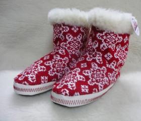 Pantofle wełniane wysokie – gwiazda norweska