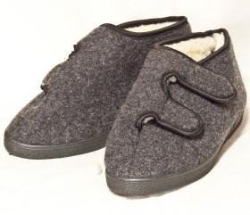 Pantofle filcowe niskie na rzep