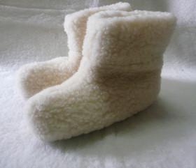 Pantofle wełniane