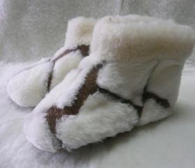 Pantofle wełniane – dziecięce
