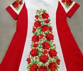 Sukienka gruby haft