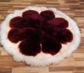 Skóry zszywane – dywany